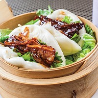 The pork buns are superb examples of their type