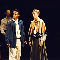 Malic Williams and Maeve Harten in <i>Cloud 9</i>, at Throughline Theatre.
