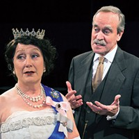 Allison Cahill and Bracken Burns in <i>The Audience</i>, at Little Lake