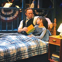 Billy Hartung (left) and Mario Williams in <i>Big Fish</i>, at Front Porch Theatricals