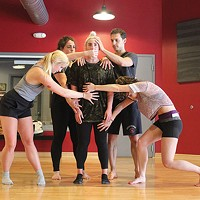 Exhalations Dance Theatre in rehearsal