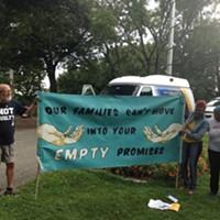 Penn Plaza residents and advocates pressure Pittsburgh Mayor Bill Peduto to enact broad affordable-housing legislation