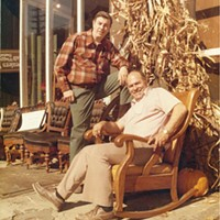 Charlie Samaha (seated) with his friend Fred Flugger on the South Side in this circa-1970s photo