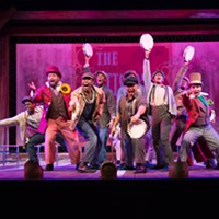 "The cast of ""The Scottsboro Boys"" at The REP"