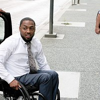 Leon Ford arrives for his civil trial on Sept. 26, against the officer who shot him during a traffic stop in 2012.