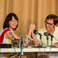 Armed forces: Billie Jean King (Emma Stone) and Bobby Riggs (Steve Carell)