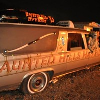 "(17th Annual); N. Versailles, PA. Journey through the woods at our two haunted attractions by wagon or foot for a factor of fright and fear. Karaoke/DJ, live bands; Benefits the Autism Society of Pittsburgh. For more info visit: <a href=""http://hauntedhillshayride.com"">hauntedhillshayride.com</a> or call 724-382-8296"