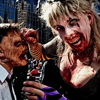 "<br>After the sun sets it's time to eat, drink and be scary! On Saturday, October 28 head Downtown to Market Square for the first ever Fright Up Night! Live music crawl with 6 bands and free admission! Freaky food, diabolical drinks and devilish brews from Brooklyn Brewery. Costume prizes and Night Market for those that like to go bump in the night. <a href=""http://www.downtownpittsburgh.com"" target=""_blank"">DowntownPittsburgh.com</a> for details"