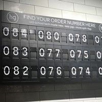 Honeygrow's old-school number board