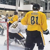 Pittsburgh Penguins practice at UPMC Lemieux Sports Complex.