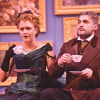 Chantelle Guido and Will Brosnahan in <i>The Matchmaker</i> at Carnegie Mellon School of Drama