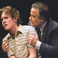 Left to right: Spencer T. Hamp and Daniel Krell in <i>Equus</i>, at Pittsburgh Public Theater