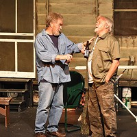 From left: Dennis Kerr and William Mitas in <i>The Last of the Boys</i>, at the Theatre Factory