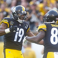 JuJu Smith-Schuster and Antonio Brown