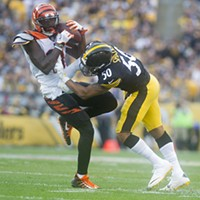 Ryan Shazier makes a big hit on Bengals wide receiver Brandon LaFell.