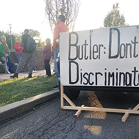 Pro-LGBTQ protest in Butler on Oct. 17