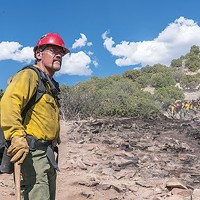 Arizona firefighter Eric Marsh (Josh Brolin) surveys the terrain.