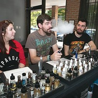 Sara Regale, Greg Combass and Cody Wise at Best Vape Shop Steel City Vapors