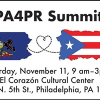 Flier for PA4PR summit, which seeks to energize Puerto Rican voters in Philadelphia on Nov. 11