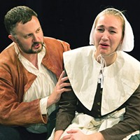 Eric Leslie and Kayleigh Peternel in <i>The Crucible</i> at Little Lake Theatre
