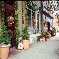 Explore the region's business districts to shop small.