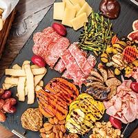 Chef's antipasto tray, with assorted meats and cheeses