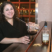 Federal Galley's bar manager Cat Cannon prepares a Turon Saba Old Fashioned
