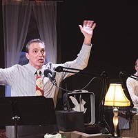 Tony Bingham and Tami Dixon in <i>Midnight Radio: A Christmas Story</i>, at Bricolage Production Co.