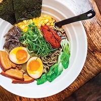 Yuzu Bomb Ramen, with marinated pork belly and 30-minute egg