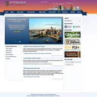 City of Pittsburgh website circa 2013