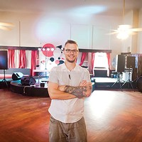 Kevin Saftner, marketing director at Karma nightclub on the South Side, in the ballroom of the former James Street Gastropub and Speakeasy