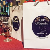 Gift bags with tasting glasses