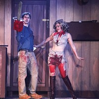 Whitney Noelle and B.A. Goodnack in <i>Evil Dead: The Musical</i>, at Pittsburgh Musical Theater