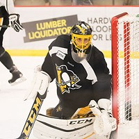 Marc-Andre Fleury in his Penguins uniform