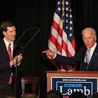 Stumping for congressional candidate Conor Lamb, former Vice President Joe Biden discusses future for young people