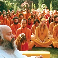 Bhagwan Shree Rajneesh, with followers