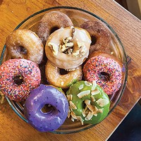 A selection of vegan donuts from Wolf Teeth Donuts