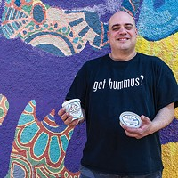 Michael Smalis, owner of Greek Gourmet, with his aquafaba ice cream
