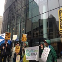 Faith groups protest PNC and want bank to divest funds from nuclear weapon manufacturers