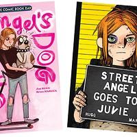 The covers of <i>Street Angel's Dog</i> and <i>Street Angel Goes to Juvie</i>