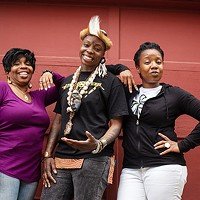 Director Kim El, Blak Rapp Madusa and Candace Michelle Perdue