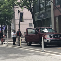 Reminder from Pittsburgh Parking Authority: Don't park in the bike lanes