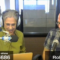 "Rob Rogers (right) with City Paper's Lynn Cullen - <a href=""https://www.pghcitypaper.com/pittsburgh/lynn-cullen-live-6-7-18/Content?oid=8757569"">Watch the video archive</a>"