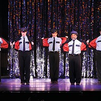 John Hickok, Kevin Massey, Dan Deluca, Randy Donaldson and Matt Newberry in<I> The Full Monty</I>