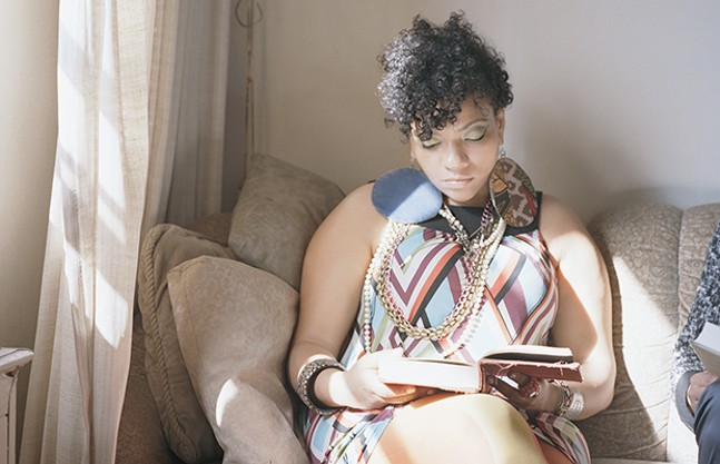 """Abigail reading Angela Davis"" - IMAGE COURTESY OF THE ARTIST AND MONIQUE MELOCHE GALLERY, CHICAGO"