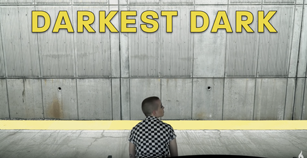 "SCREENSHOT OF PUNCHLINE'S ""DARKEST DARK"" VIDEO, DIRECTED BY KEATON MANNING"