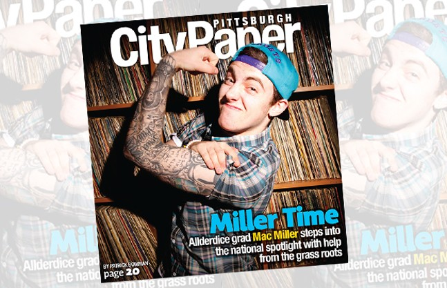 City Paper's 2011 cover featuring the late Mac Miller. - CP PHOTO: HEATHER MULL