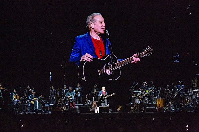 Paul Simon performs at PPG Paints Arena on Mon., Sept. 17, 2018. - CP PHOTO: MIKE PAPARIELLA