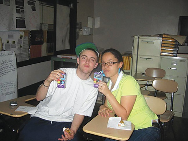Apple juice and cookies with Mac Miller at Taylor Allderdice - PHOTO: KIMBERLY MCDONALD