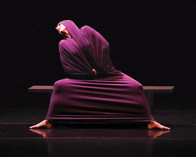 "Maria Caruso in ""Lamentation"" - PHOTO: ERIC ROSÉ"